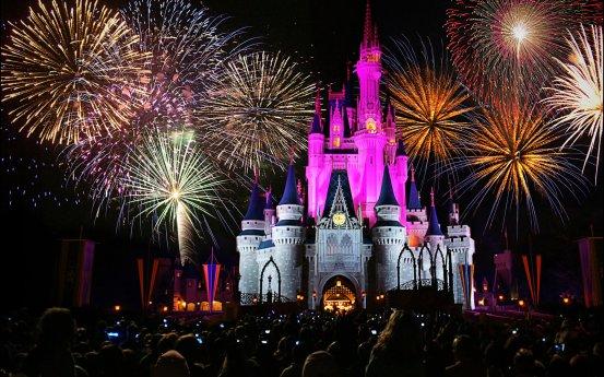 walt disney world - magic kingdom castle fireworks